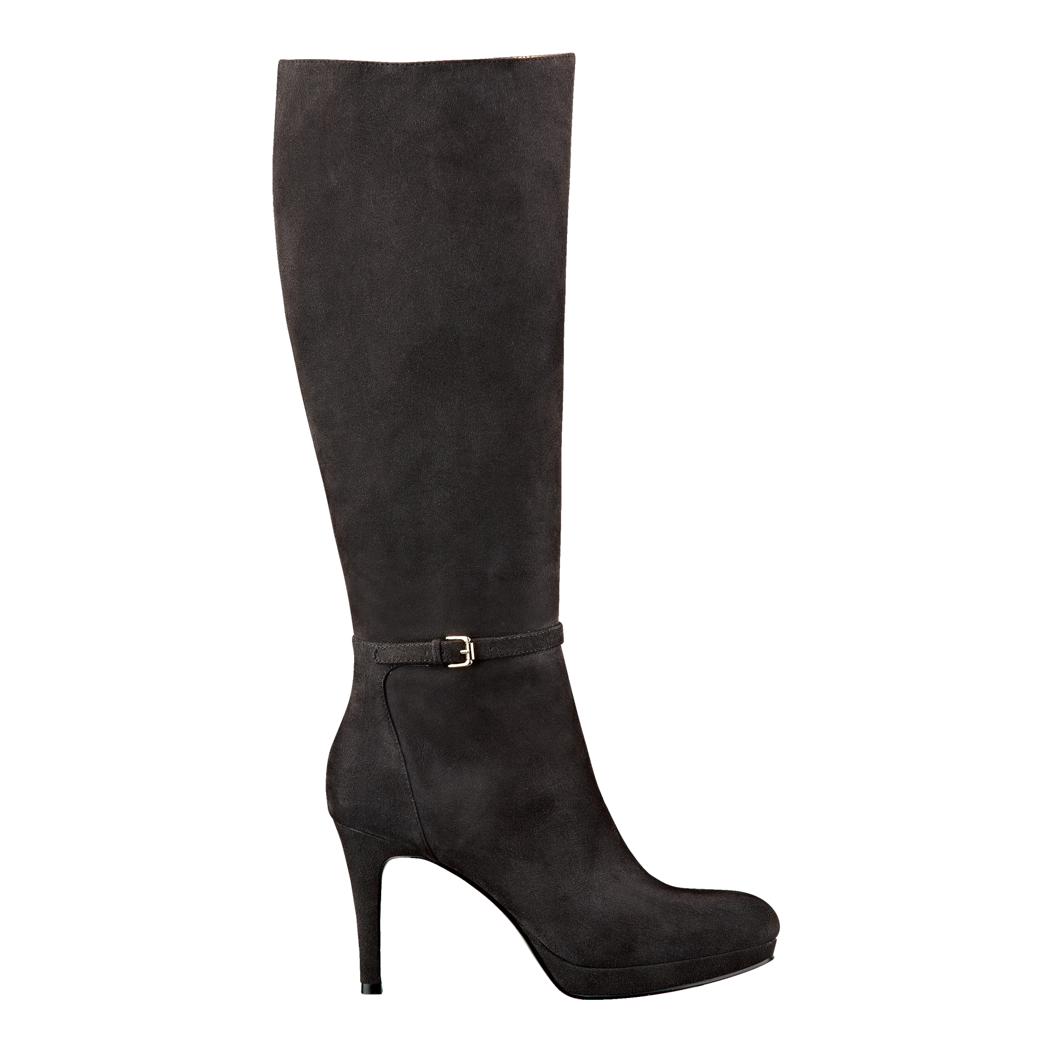 nine west califa boot in gray grey suede lyst