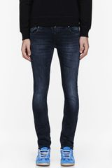 Nudie Jeans Washed Black Organic Faded Long John Jeans - Lyst
