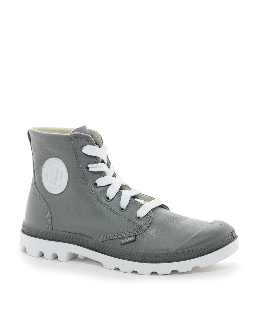 Awesome Asos Palladium Blanc Leather Boots In Gray For Men Grey  Lyst