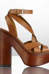 Ralph Lauren Collection Alecia Calf Platform Sandal - Lyst