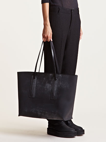 Rick owens Womens Oversized Leather Shopper Bag in Black | Lyst
