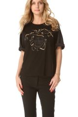 Versace Short Sleeve Top - Lyst