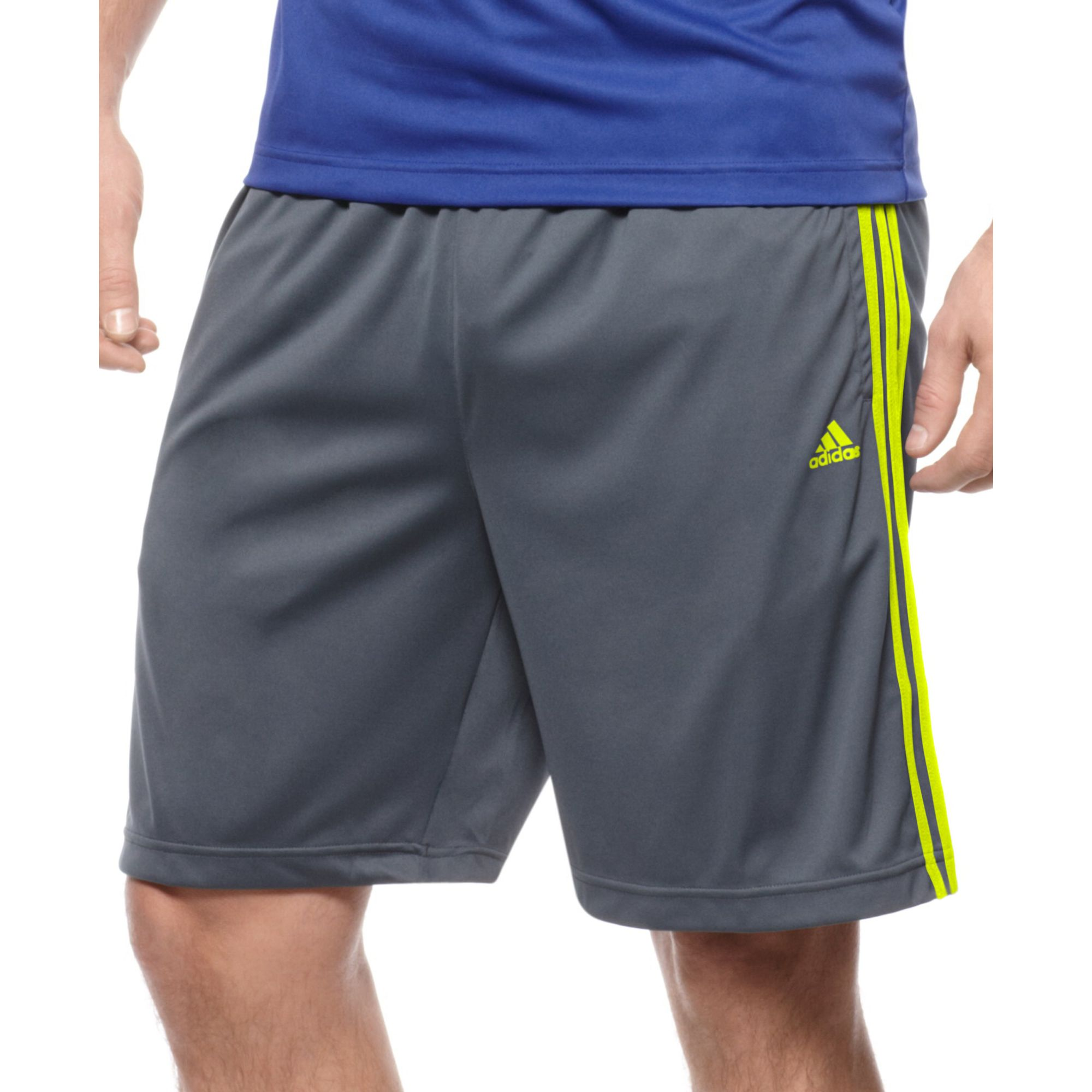 adidas essentials climalite shorts in gray for men lyst. Black Bedroom Furniture Sets. Home Design Ideas