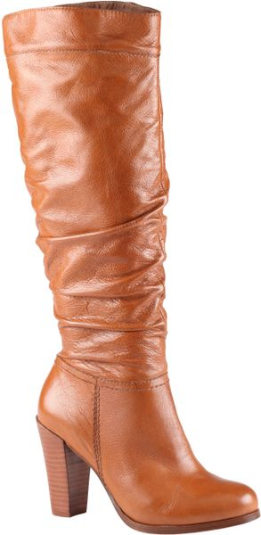 Aldo Szablewski Block Almond Toe Boots in Brown (Cognac) - Lyst