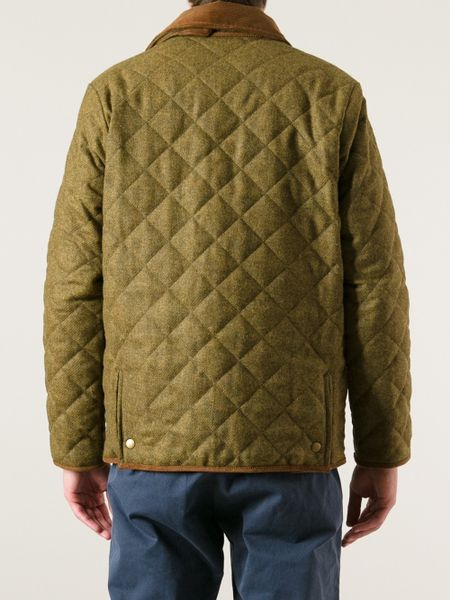 Barbour Quilted Jacket In Khaki For Men Brown Lyst