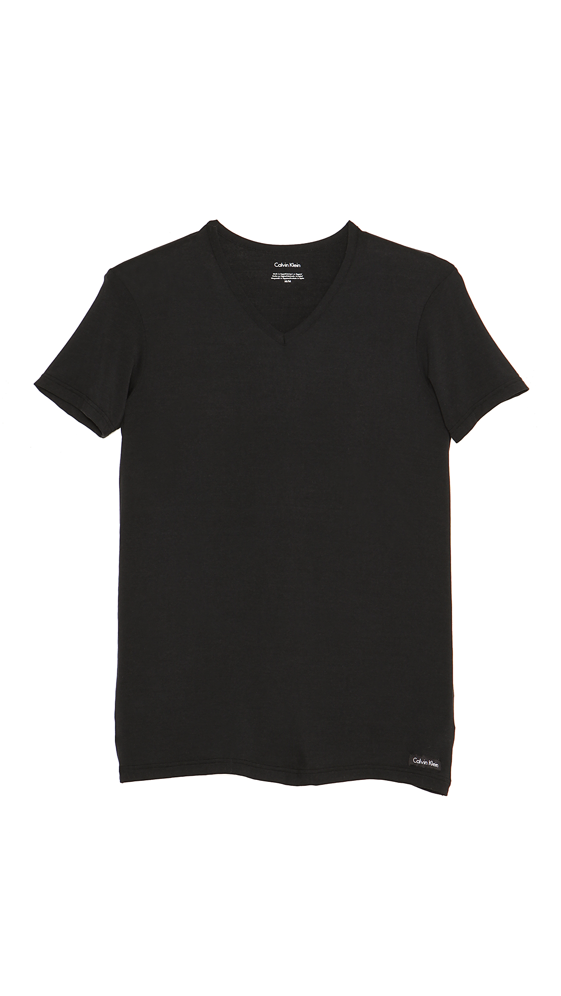 Calvin klein body modal v neck t shirt in black for men lyst for Modal t shirts mens