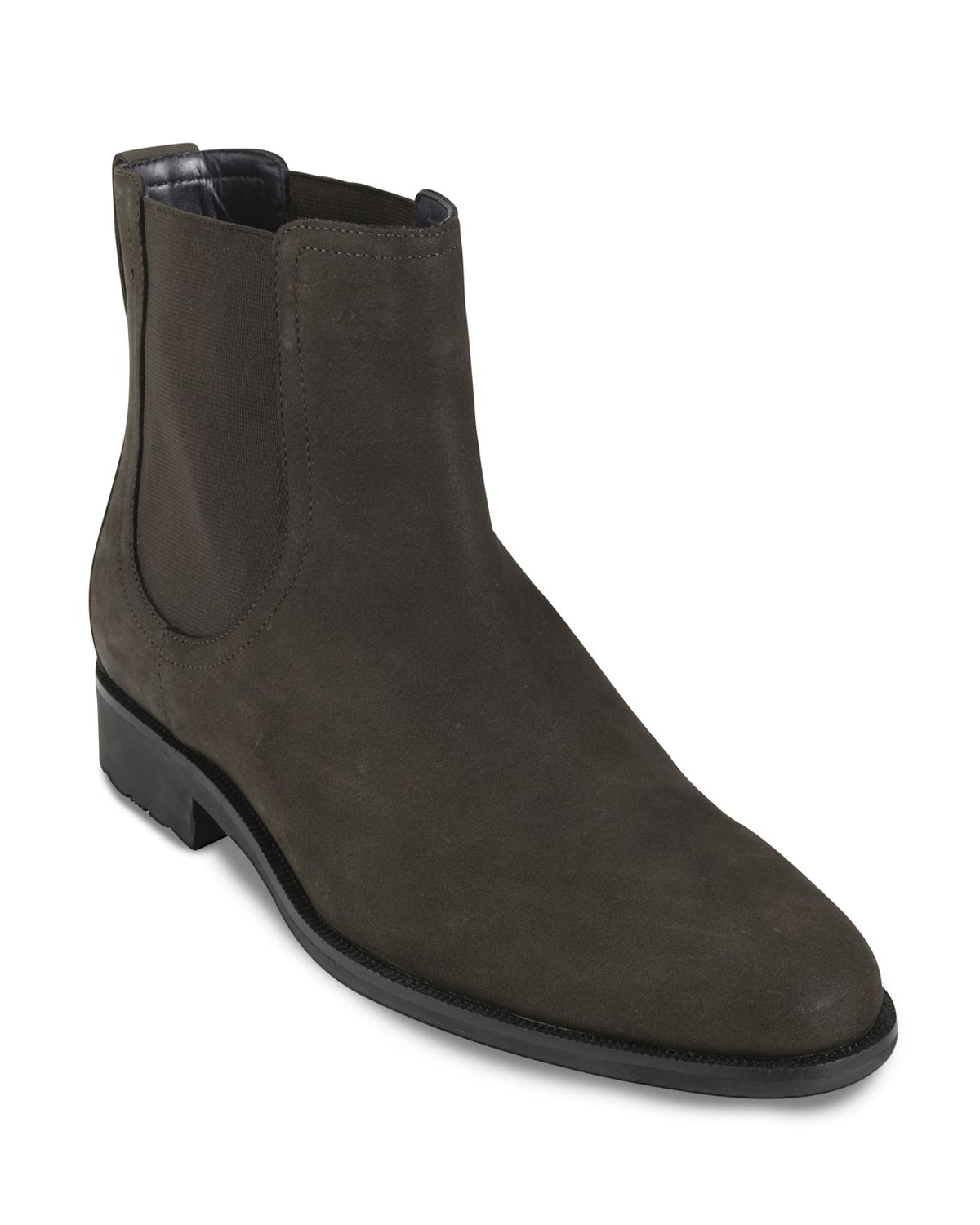 cole haan air stanton suede chelsea boots in black for