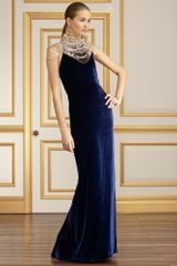Collection Apparel Beaded Velvet Isadore Gown - Lyst
