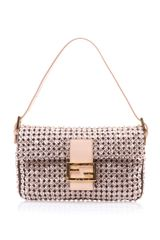 Fendi Crystal Embellished Baguette Bag - Lyst