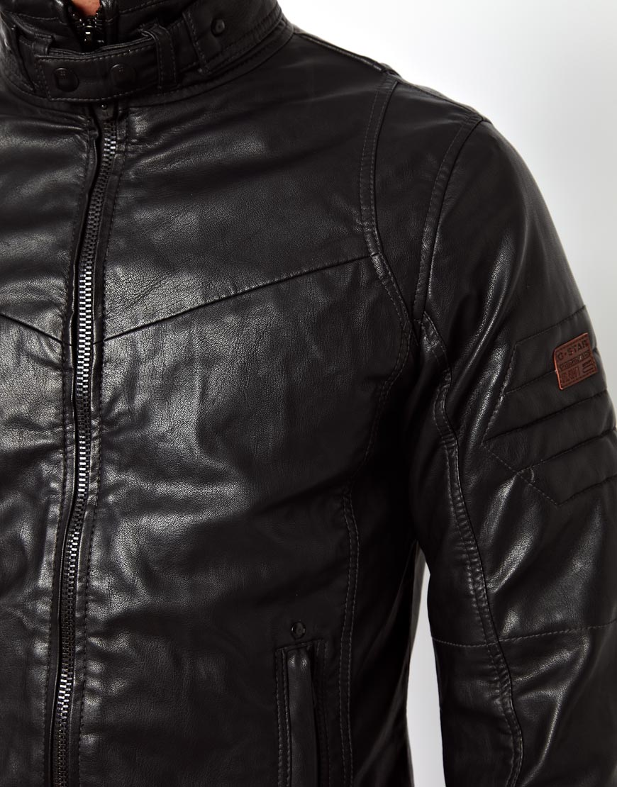 Mens g star leather jacket