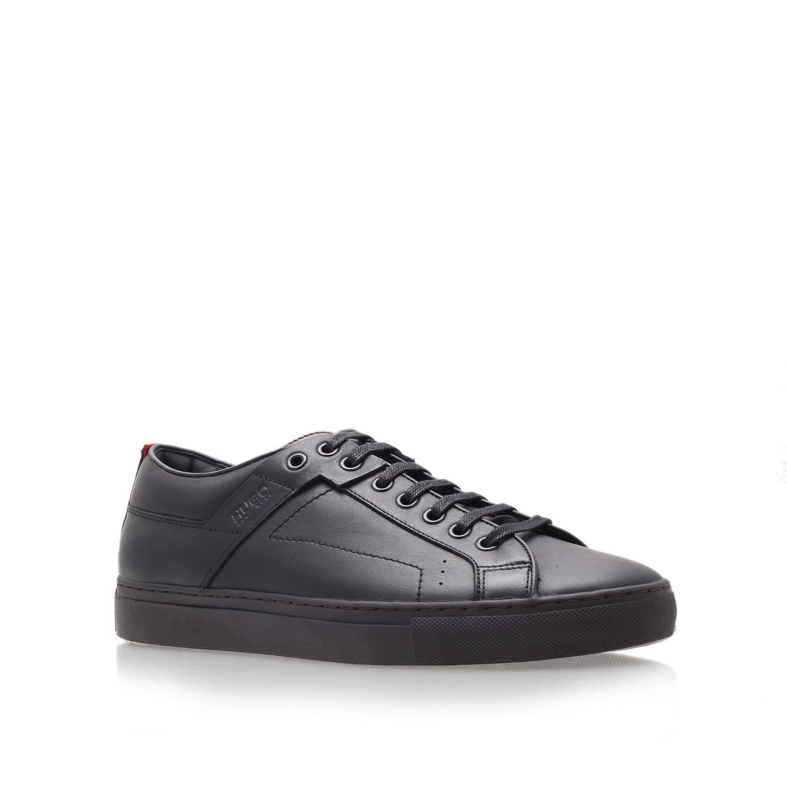 hugo boss futesio tennis sneaker in black for men. Black Bedroom Furniture Sets. Home Design Ideas