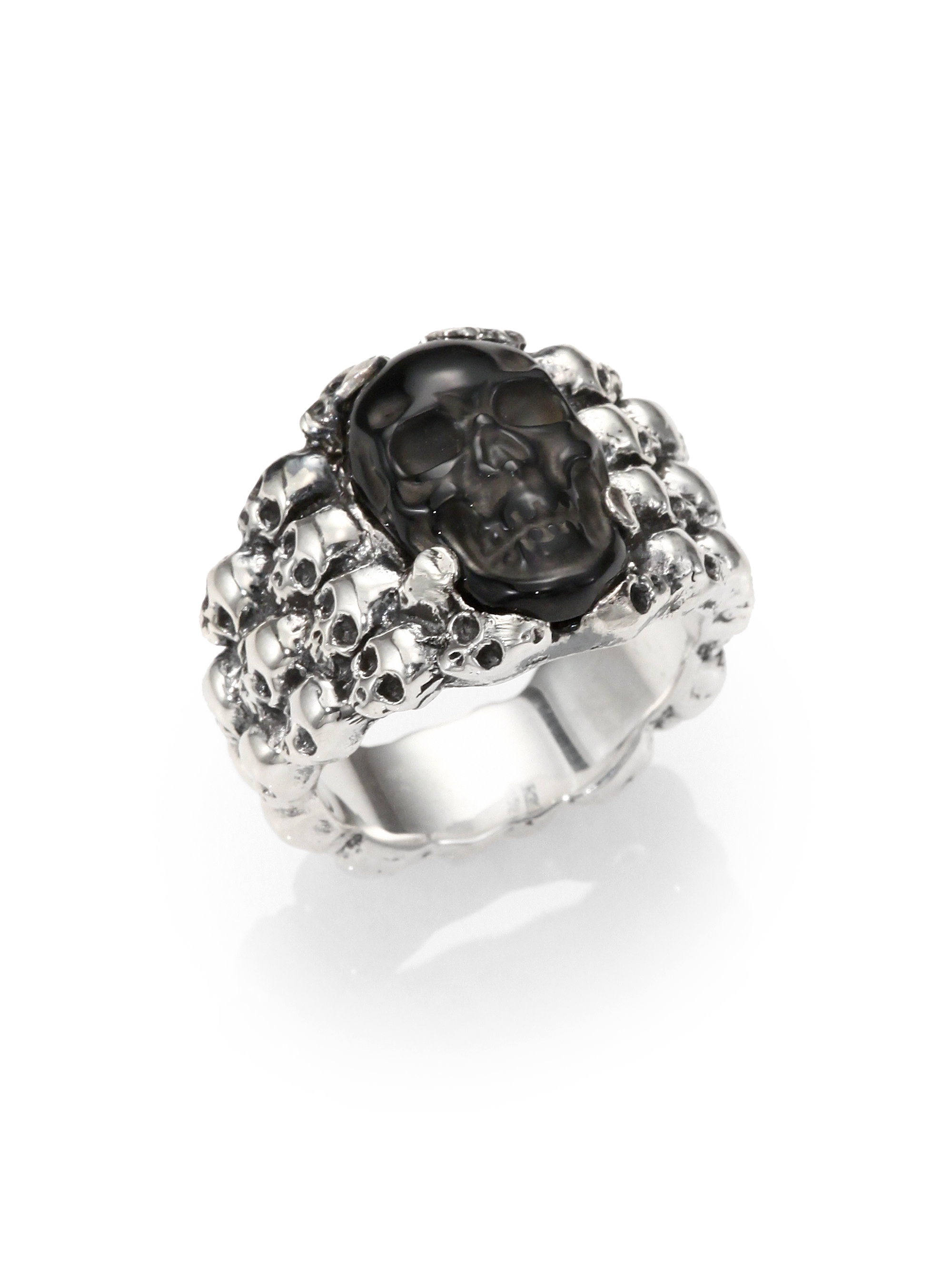 rings for silver gallery classic skull normal product studio metallic baby in men jewelry ring king lyst