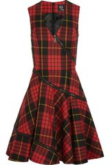 McQ by Alexander McQueen Tartan Wool Dress - Lyst