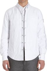 Moncler Gamme Bleu Quilted Oxford Shirt Jacket - Lyst