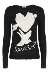 Moschino Cheap & Chic Alpaca Wool Lovebirds Knit - Lyst