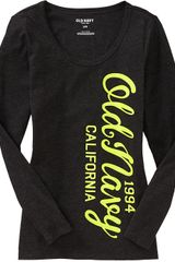 Old Navy Long Sleeved Graphic Tee - Lyst