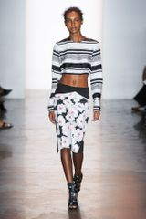 Peter Som Spring 2014 Knee-Length Skirt in Floral Motif