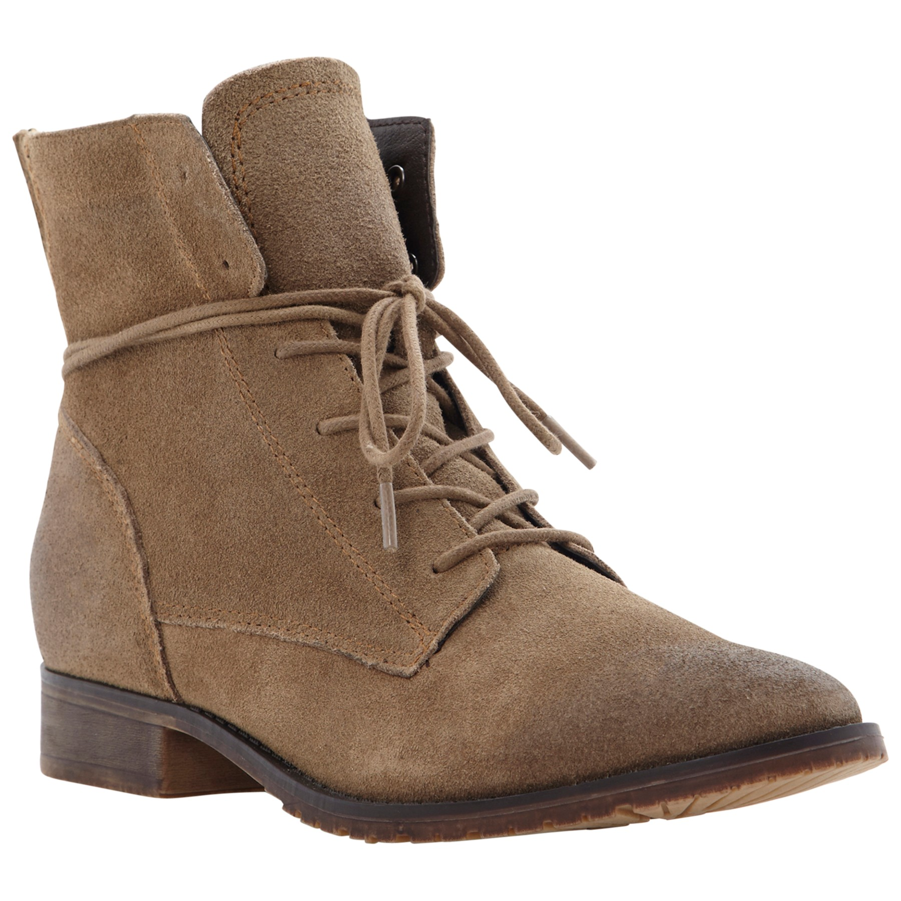 steve madden rawling suede ankle boots in brown taupe lyst