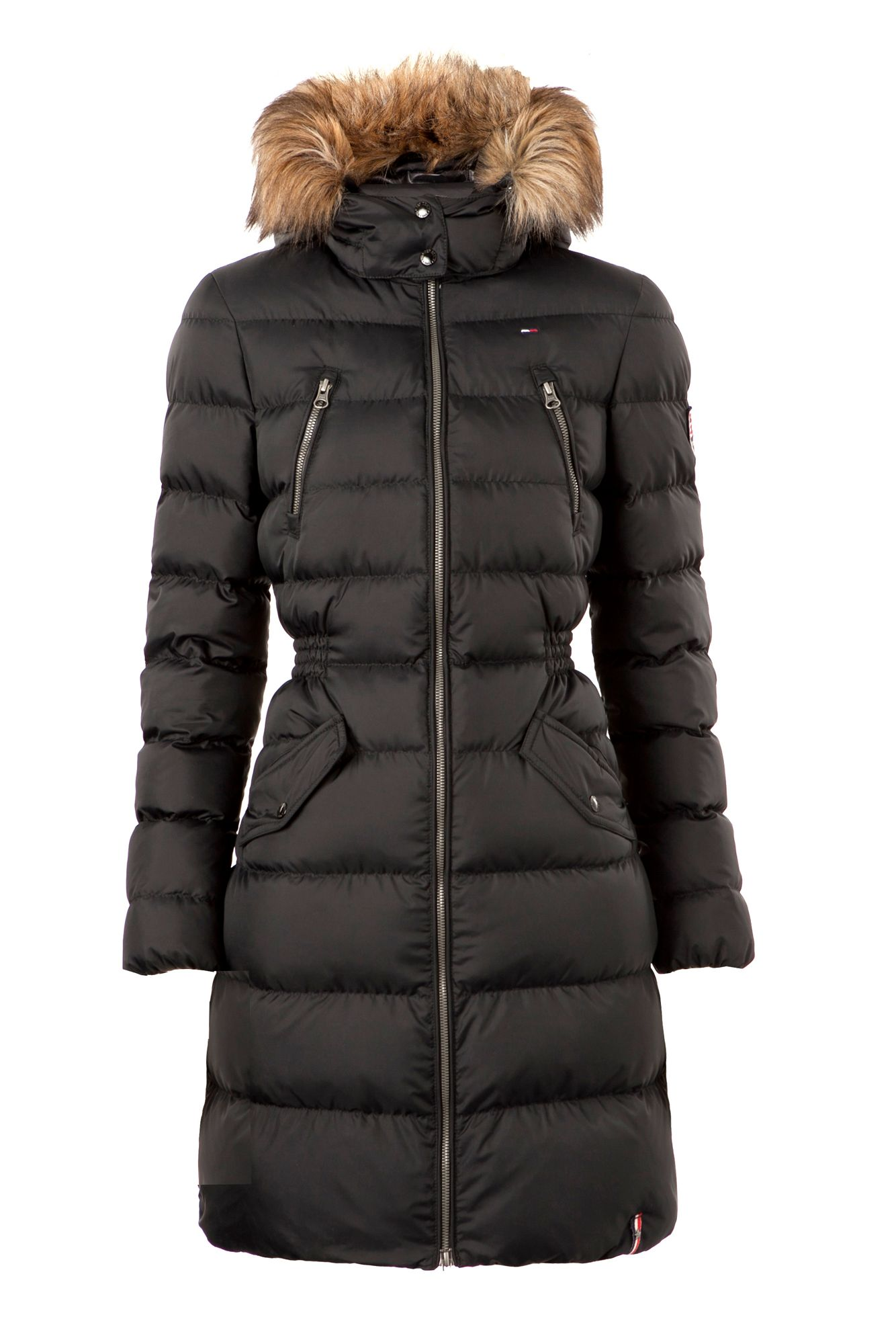 Tommy Hilfiger Maria Down Coat In Black Lyst