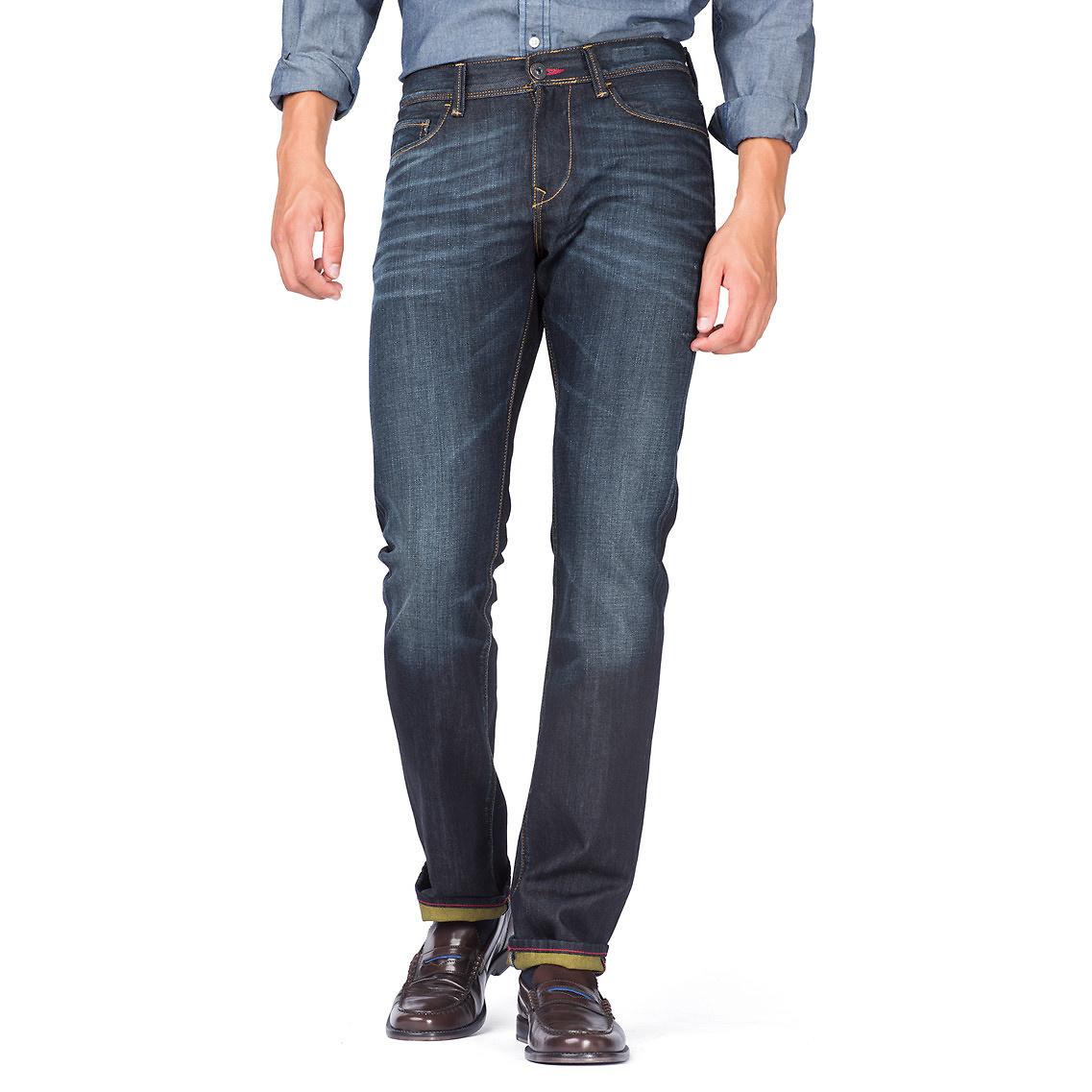 tommy hilfiger hudson slim fit jeans in blue for men. Black Bedroom Furniture Sets. Home Design Ideas