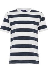 Topman Navy and White Stripe Tshirt - Lyst