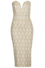 Topshop Bodycon Midi Dress By Tfnc - Lyst