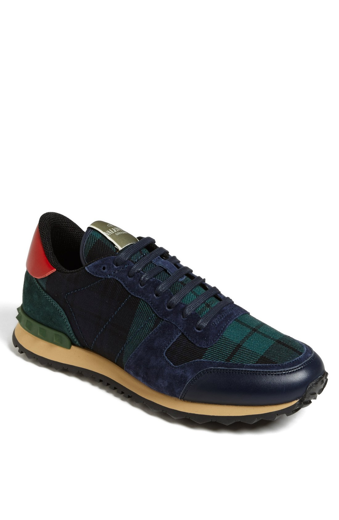 valentino camouflage sneaker in blue for men marine lyst. Black Bedroom Furniture Sets. Home Design Ideas