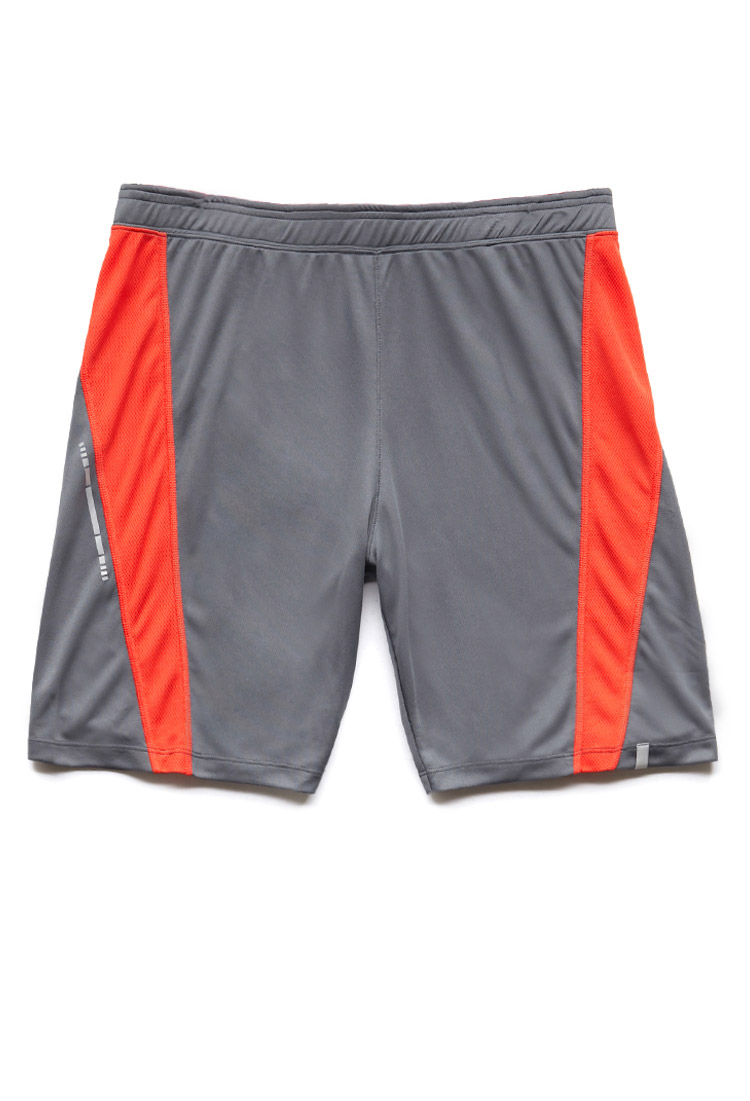 Lyst Forever 21 Striped Athletic Shorts In Gray For Men