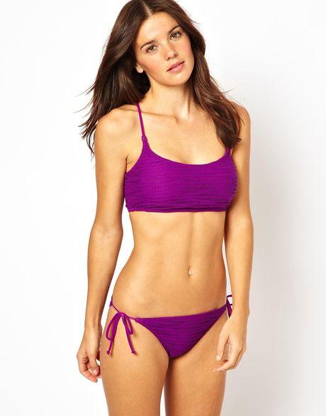 Cross Back Bikini Crop Top