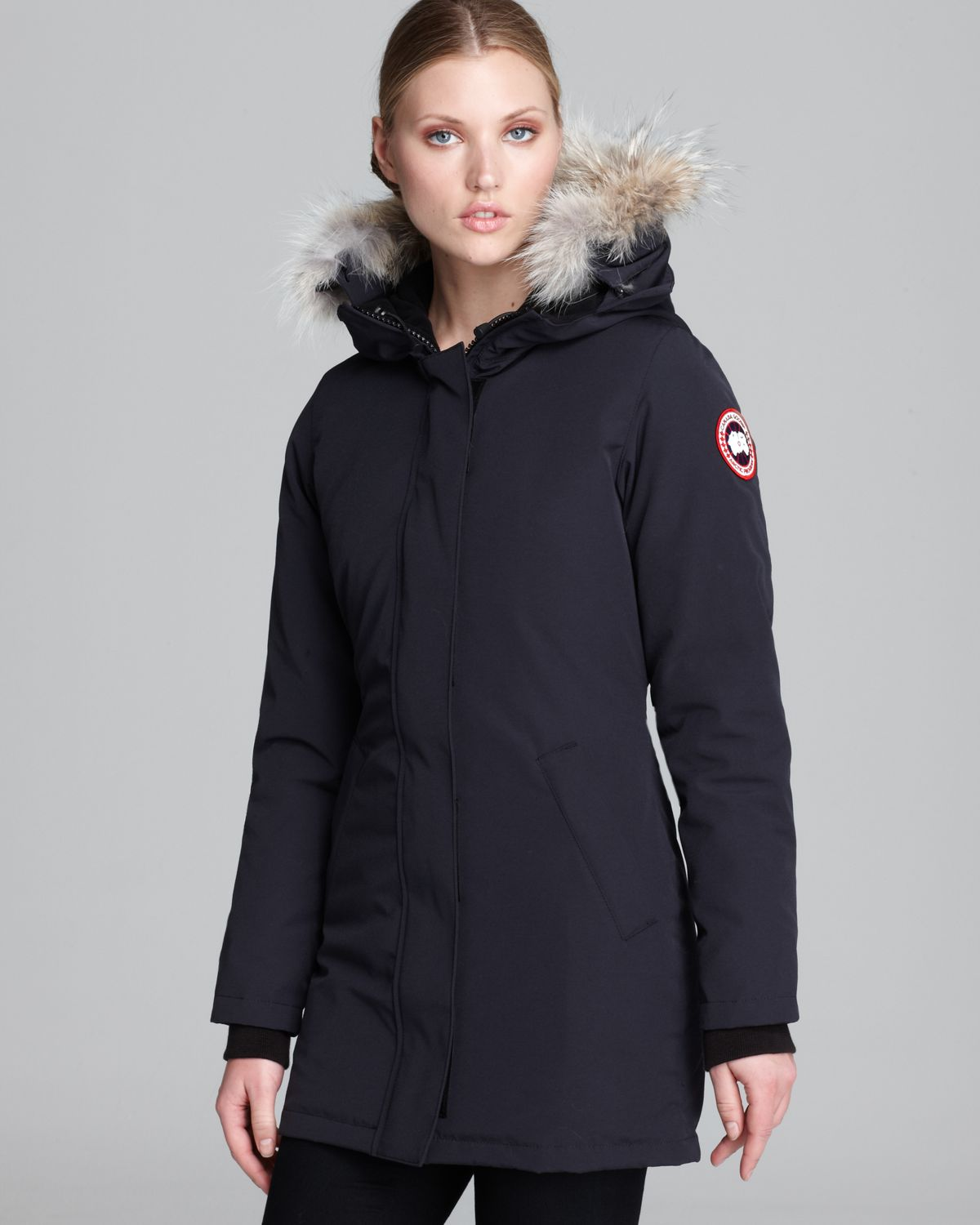canada goose victoria parka in blue lyst. Black Bedroom Furniture Sets. Home Design Ideas