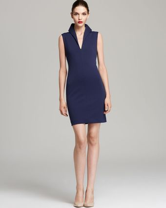 Catherine Malandrino Dress Favorite Kerrianne Ponte High Collar - Lyst