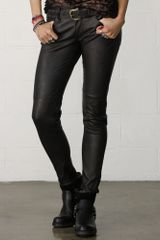 Denim & Supply Leather Skinny Pant - Lyst