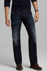 Diesel Jeans Larkee Straight Fit in Denim - Lyst