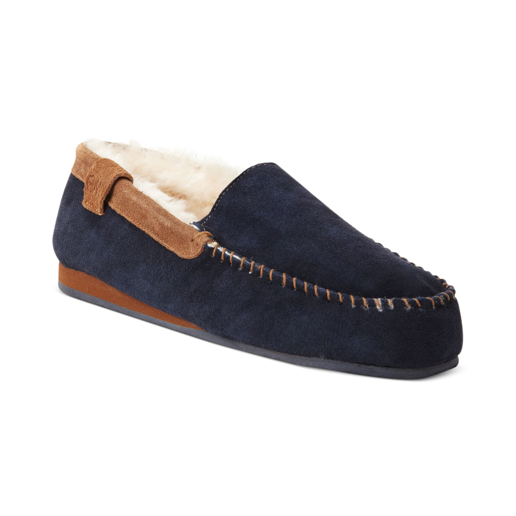 emu shoes huntley slippers in blue for midnight blue