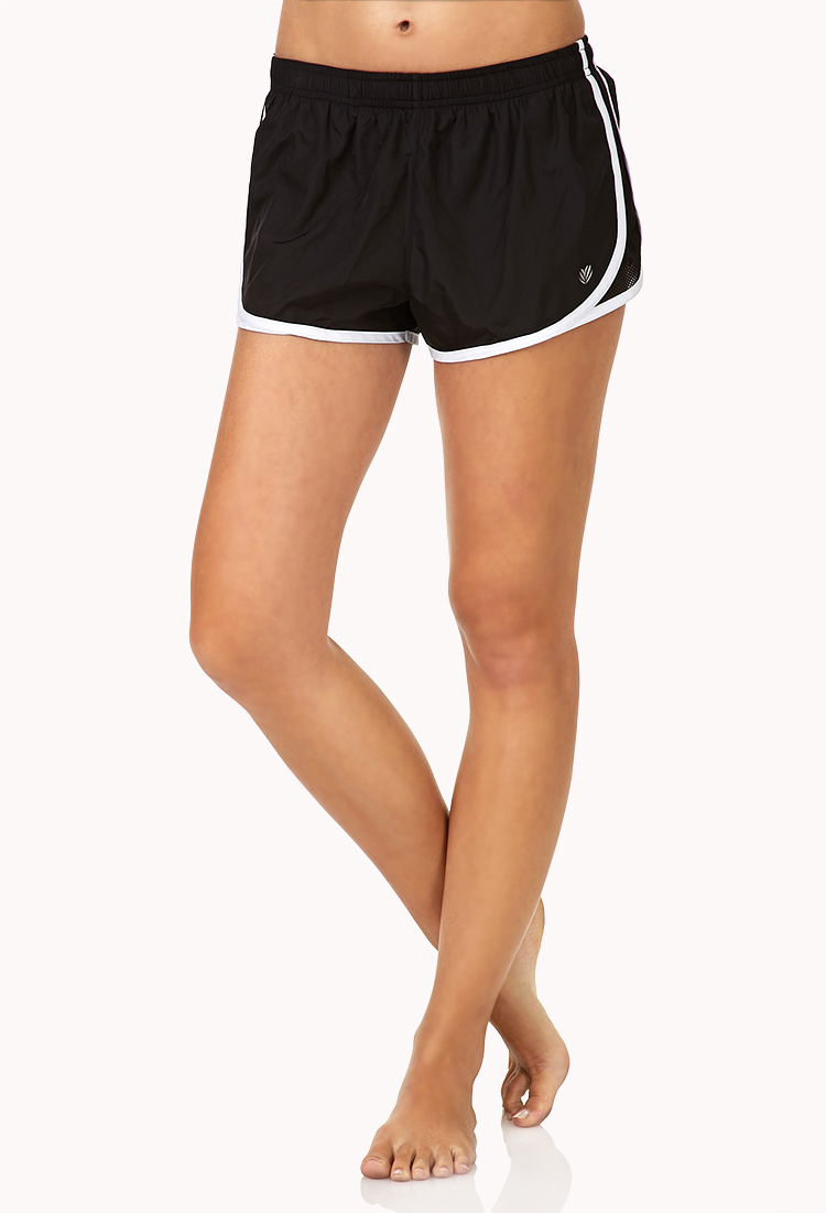 Forever 21 Contrast Trim Run Shorts in Black | Lyst