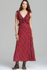 Free People Maxi Dress Venitia Plaid - Lyst