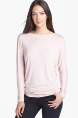 Halogen Scoop Back Ruched Dolman Top - Lyst