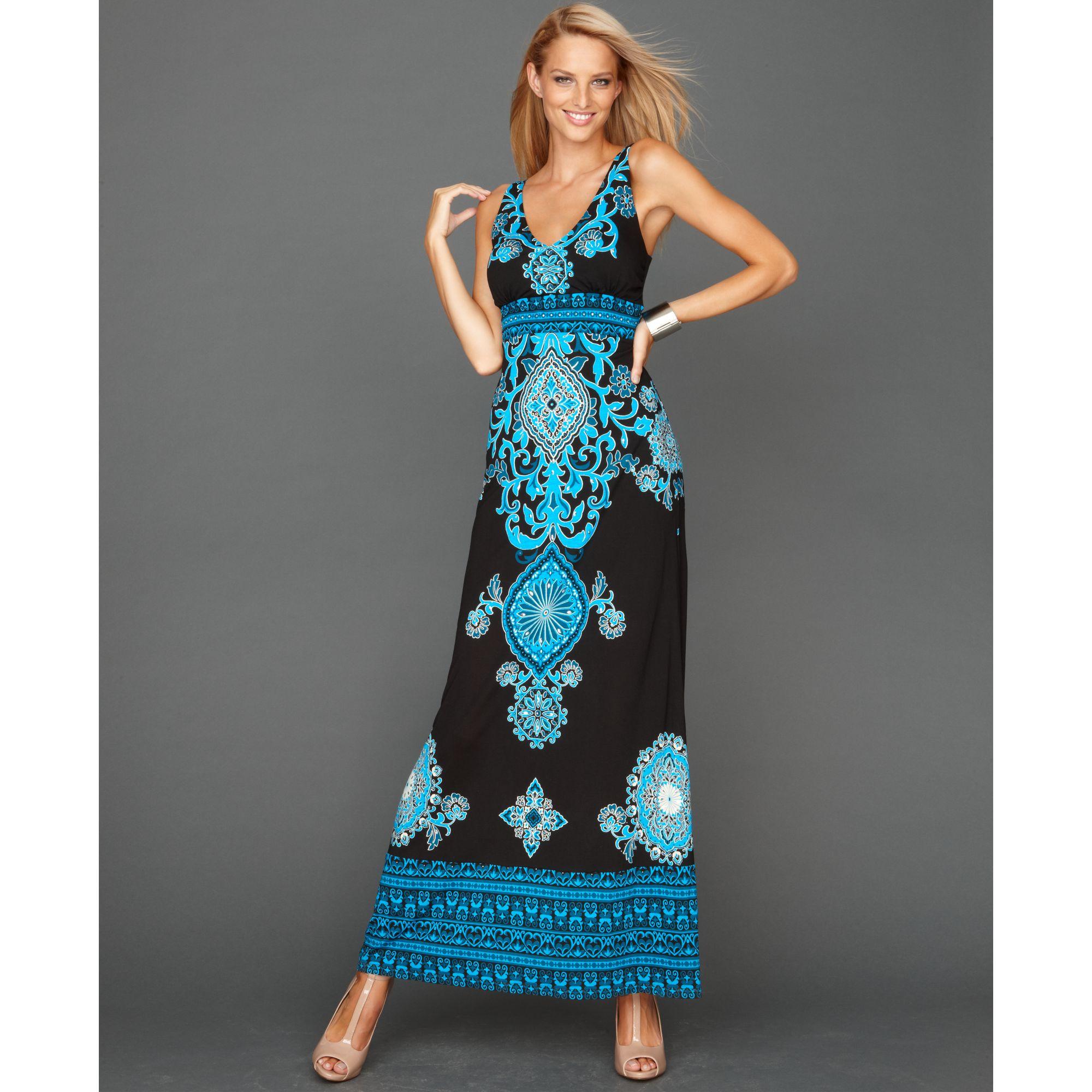 Inc paisley maxi dress