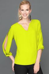 Inc International Concepts Splitsleeve Blouse - Lyst