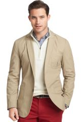 Izod Jacket Twobutton Cotton Twill Blazer