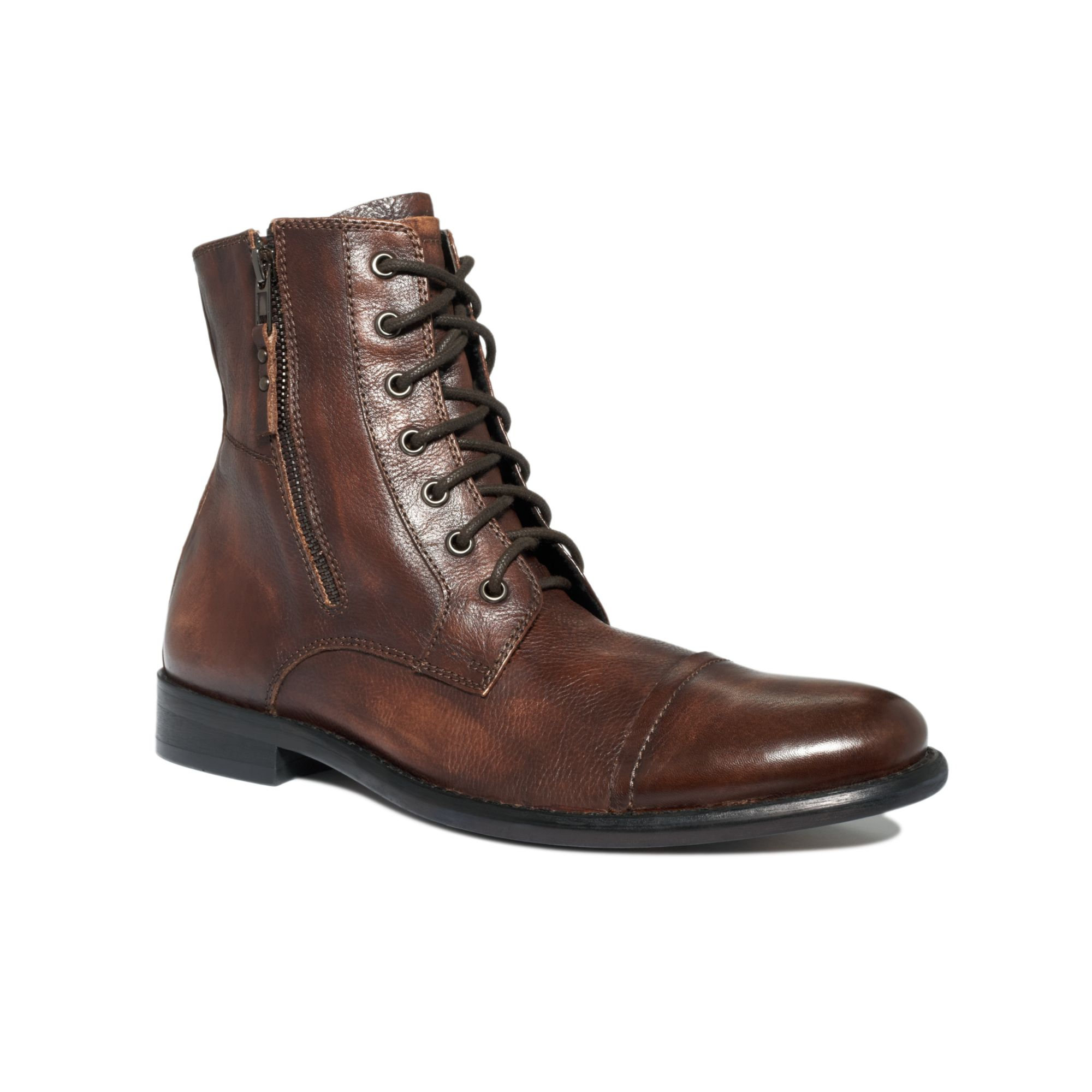 Lyst Kenneth Cole Reaction Hit Men Cap Toe Lace Up Boots
