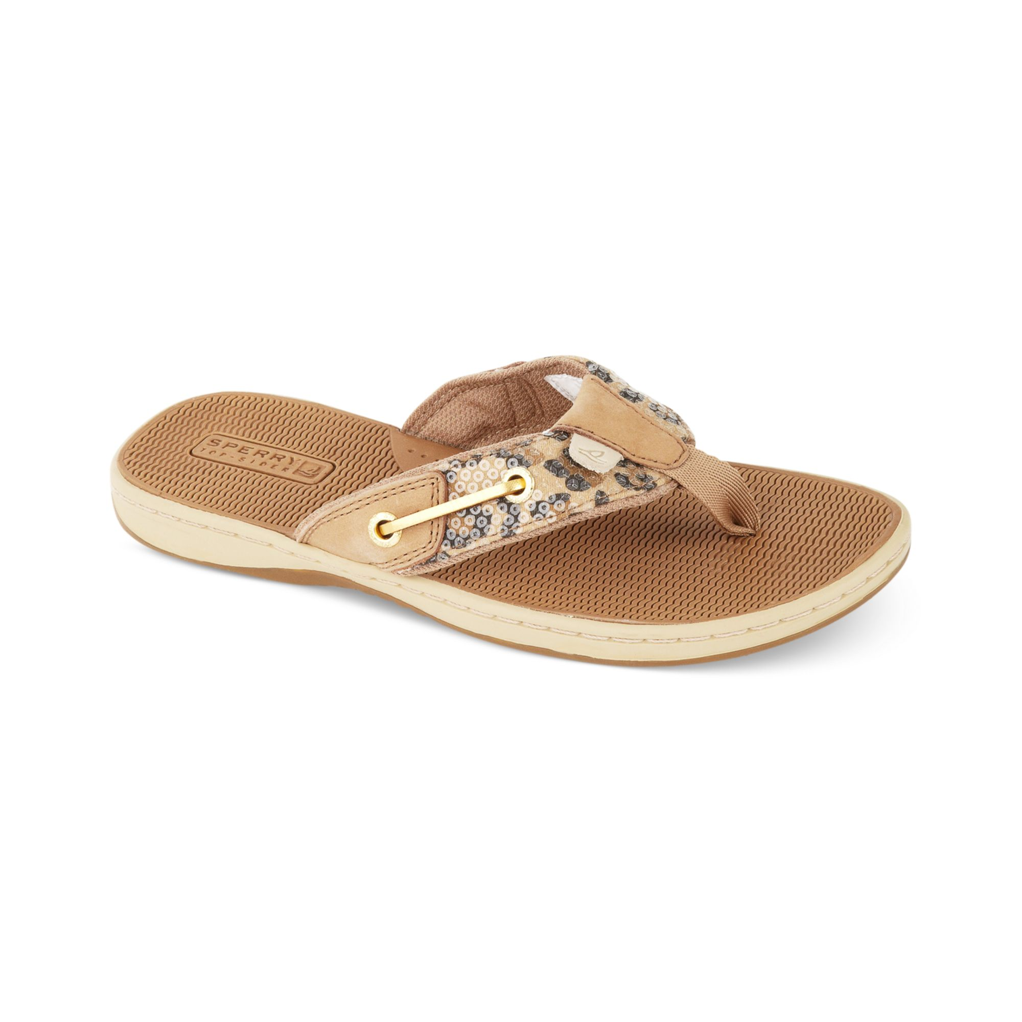 448375433367 Lyst - Sperry Top-Sider Womens Seafish Thong Sandals in Natural
