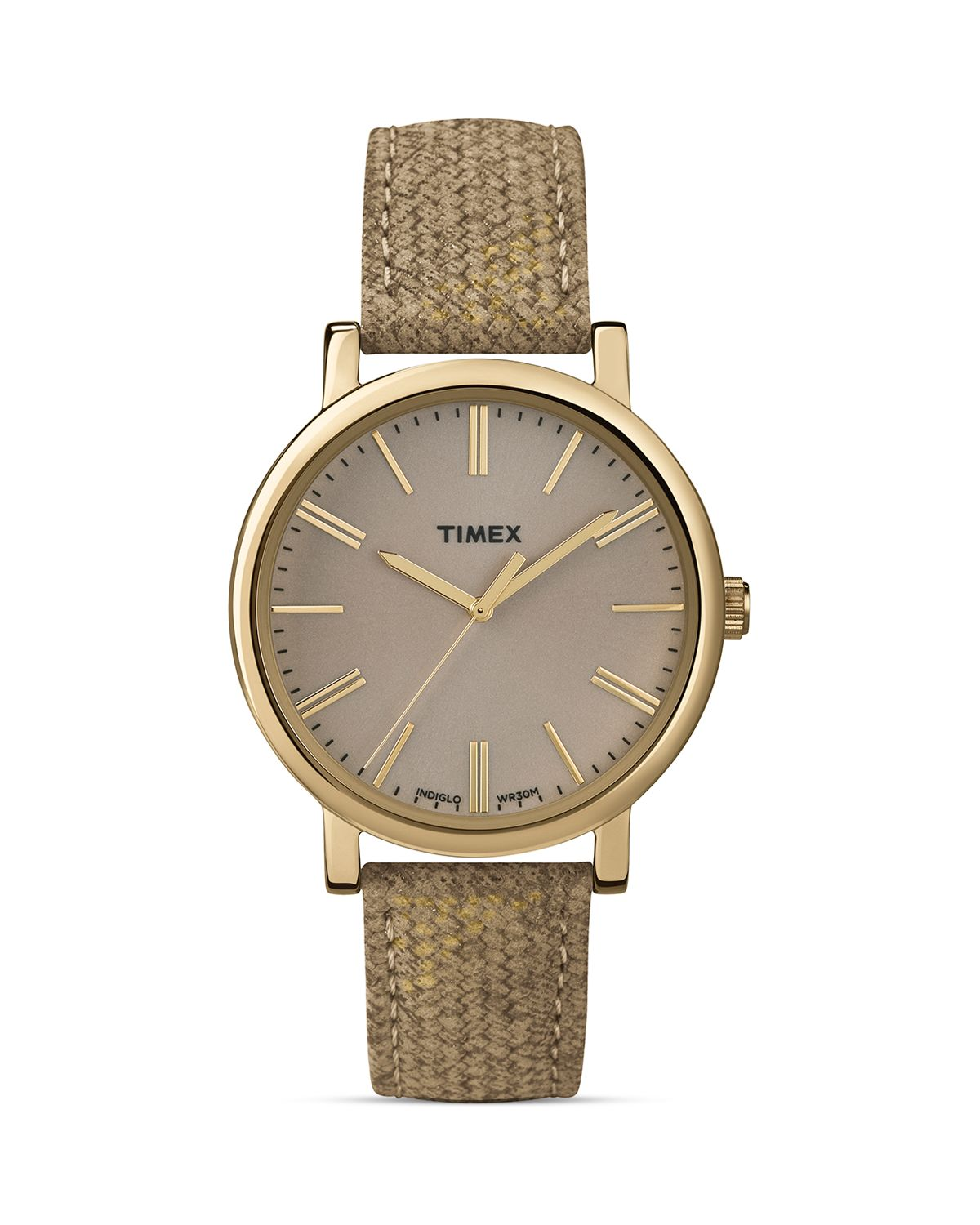 Lyst Timex Braided Classic Taupe Watch 38mm In Brown