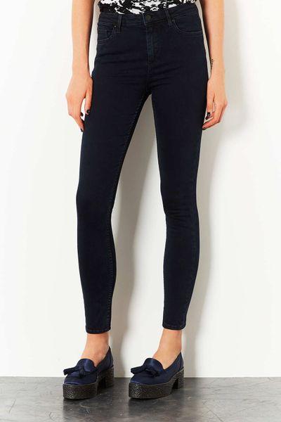 Topshop Moto Blue Black Jamie Jeans in Black (BLUE BLACK) | Lyst
