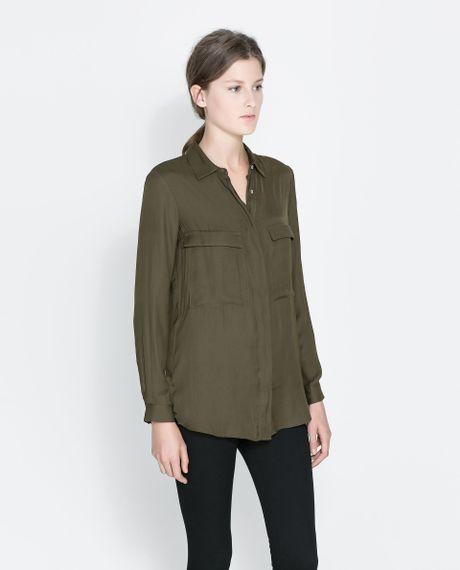 Zara Shirt Blouse 8