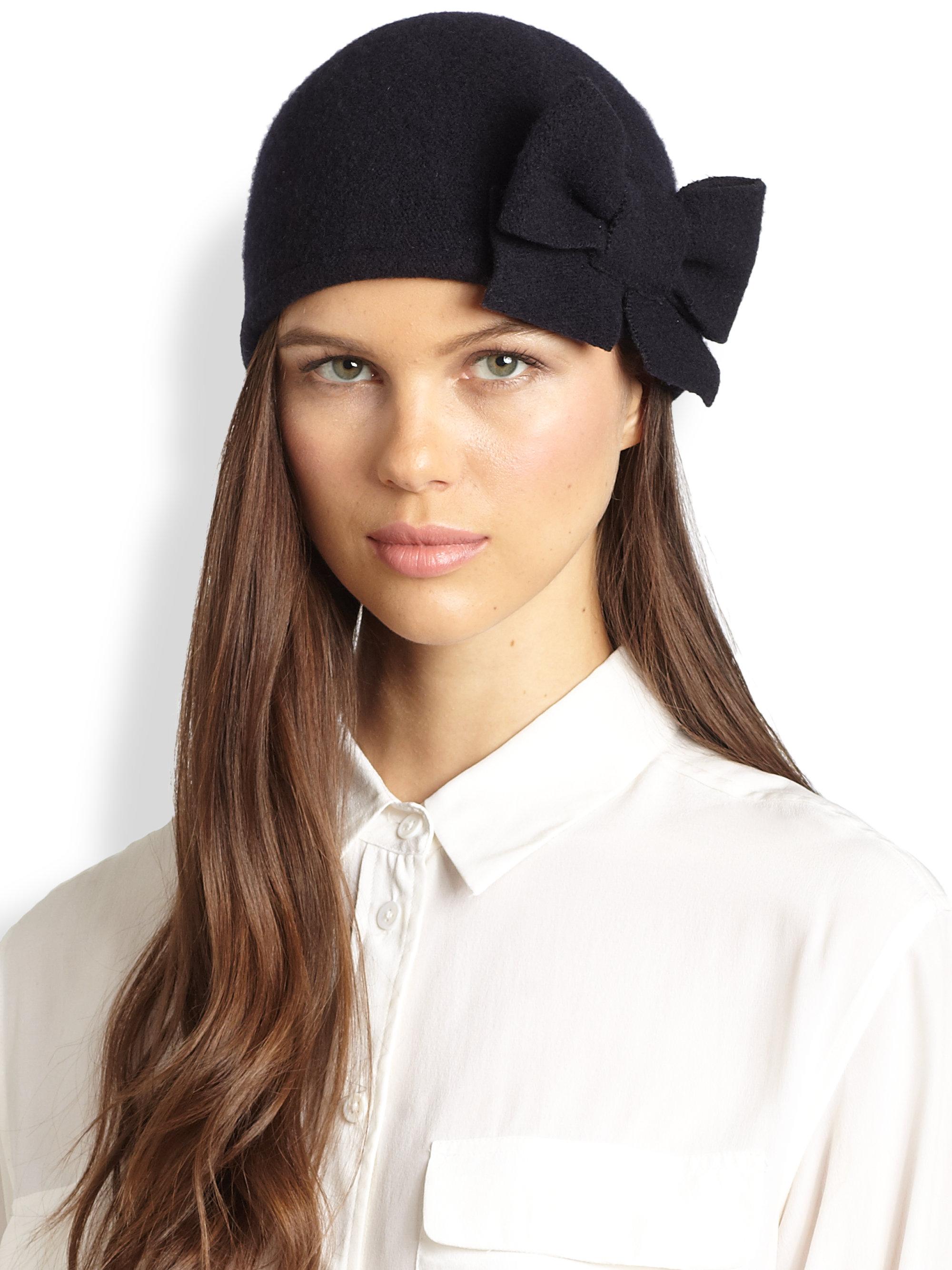 Lyst - Helene Berman Bow Hat in Blue 2f8f92a3497