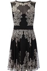 Karen Millen Lace Print On Ggt Dress - Lyst