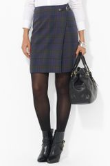 Lauren by Ralph Lauren Plaid Wool Skirt - Lyst