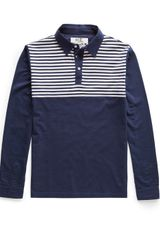 Mango Striped Cotton Polo Shirt - Lyst