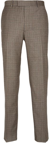 Paul Costelloe Light Brown Check Trousers - Lyst